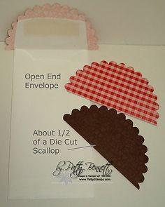 Scallop envelope flap