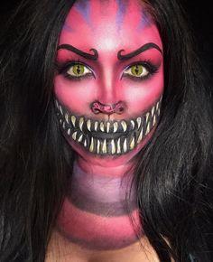 Cruella & Co.: Das schönste Disney-Make-up zu Halloween Disney Halloween, Halloween Look, Halloween Makeup Looks, Halloween Costumes, Party Costumes, Halloween 2018, Halloween Ideas, Cheshire Cat Makeup, Cheshire Cat Costume