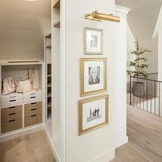 Second Floor Landing Closet with Sloped Ceiling