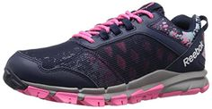 Reebok Womens Trail Warrior Running Shoe AvonCollegiate NavySolar PinkZee Blue 55 M US -- See this great product.(This is an Amazon affiliate link and I receive a commission for the sales)