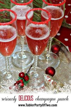 Holiday Champagne Punch... This will be the hit of your holiday party! Everyone LOVED it! And it's so festive. :)