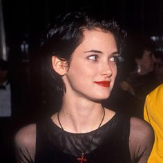 best= Winona Ryder with short hair Prom Dresses Girl Winona Ryder, Johnny And Winona, 80s Short Hair, Short Hair Styles, Pretty People, Beautiful People, Winona Forever, Celebrity Crush, Bobby