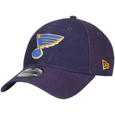 614a3f806e5d3 Men s New Era Navy St. Louis Blues Core Shore 9TWENTY Adjustable Hat