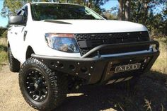 ADD 2011 - 2016 Ford Ranger Stealth Front Bumper With Stealth Panels And Light Mounts Ford Ranger Wildtrak, Desert Design, Lower Lights, Ads, Vehicles, Yoga, Car, Vehicle, Tools