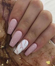 GORGEOUS MARBLE NAILS ART DESIGNS 2019 Seeing enough fresh flower patterns, and I don't want to repeat the elegance of French manicure. Today I recommend a unique and temperamental nail art – marble manicure. Summer Acrylic Nails, Best Acrylic Nails, Summer Shellac Nails, French Manicure Acrylic Nails, Simple Acrylic Nails, French Manicures, Aycrlic Nails, Hair And Nails, Nail Polishes