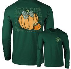 Long Sleeve Fall Pumpkin by Ashton Brye™ | underthecarolinamoon.com