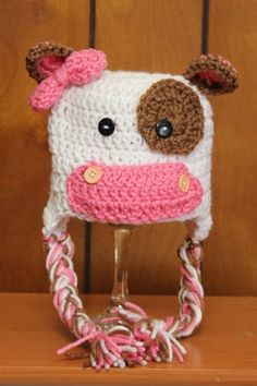 toddlers winter hats ivory-pink