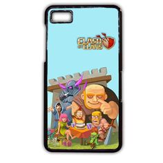 Clash Of Clans All Character Making Funny Face TATUM-2665 Blackberry Phonecase Cover For Blackberry Q10, Blackberry Z10