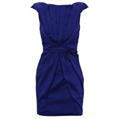 Bqueen Bold Colourful Dress Blue K260L - Designer Shoes|Bqueenshoes.com