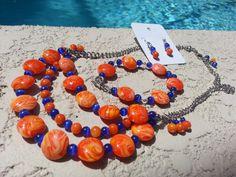 Florida Gator Football cheer jewelry on Etsy, $45.00