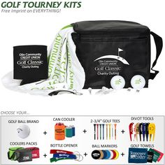 customized 6 pack cooler golf tournament kit very cool gift idea for charity golf