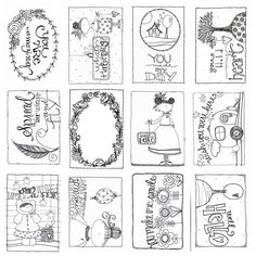 Carolee's Creations - Adornit - Art Play Paintables - 12 x 12 Paper - Hello at Scrapbook.com