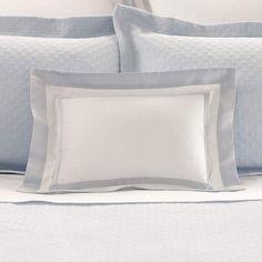 Piazza White/Delphinium Decorative Pillow design by Luxe
