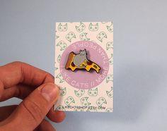 Pizza Cat enamel lapel pin Cat pin Enamel pin by ilikeCATSshop