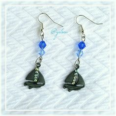 Sail away nautical earrings The most adorable handmade sail boat charms embellished w about rhinestones, preceded by genuine Swarovski crystals on ss hooks. Discounts given on bundles. Swarovski  Jewelry Earrings