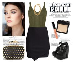 """""""Champagne Mami"""" by mariaalovett ❤ liked on Polyvore featuring H&M, Posh Girl, NARS Cosmetics and Bobbi Brown Cosmetics"""