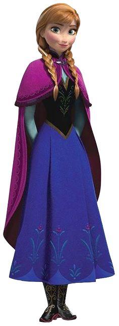 Frozen: Ana Clip Art.