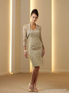 Silk Like Satin Corset Bodice Strapless Knee-length Mother of the Bride Dress
