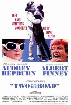 Two for the Road (1967) USA 20th Century Fox D/Prod: Stanley Donen. Audrey Hepburn, Albert Finney, Eleanor Bron, Jacqueline Bisset. 31/5/08