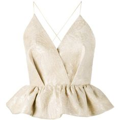 Delpozo sleeveless tutu hem blouse ($1,242) ❤ liked on Polyvore featuring tops, blouses, nude, v neck sleeveless top, sleeveless tops, sleeveless v neck blouse, ruffle v neck blouse and nude blouses