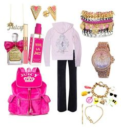 """""""•Juicy couture•"""" by haileycouture ❤ liked on Polyvore"""