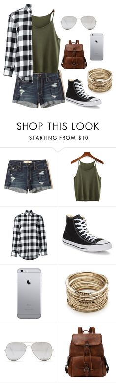 """""""Shorts"""" by maia-the-papaya ❤ liked on Polyvore featuring Hollister Co., Golden Goose, Converse, Sole Society and Sunny Rebel"""
