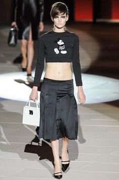 Iconic Mickey Mouse image on sweater - Marc Jacobs, follow live tweets of NYC fashion week @snapette