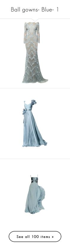 """""""Ball gowns- Blue- 1"""" by kaytiethecutie ❤ liked on Polyvore featuring dresses, gowns, long dresses, vestidos, long dress, blue gown, long blue dress, blue ball gown, long blue evening dress and edited"""
