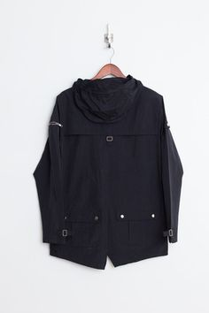Profound Aesthetic Rain Coat Parka: Black http://profoundco.com/collections/jackets/products/fisher-pocket-rain-coat-parka-black