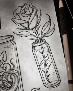 Art Sketches Still survives Kunst Skizzen – Überlebt noch – … Art Sketches – Still survives – sketches pencil # skitszenbuchku Pencil Art Drawings, Cute Drawings, Tattoo Drawings, Tattoo Sketches, Tattoos, Sketch Art, Drawing Sketches, Drawing Art, Art Du Croquis