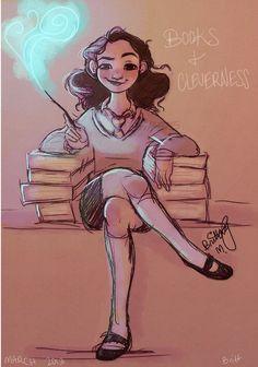 My favorite book nerd: Hermione Granger James Potter, Harry Potter Fan Art, Harry Potter Universal, Harry Potter World, Potter Box, Dramione, Scorpius And Rose, Golden Trio, Game Of Thrones