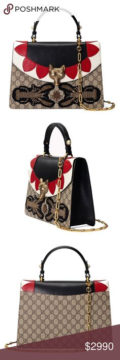 21d098fc70a Spotted while shopping on Poshmark  New Medium Gucci Broche GG Supreme Top  Handle Bag!