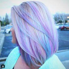 Hair Dye Colors, Hair Color Blue, Cool Hair Color, Purple Hair, Green Hair, Color Streaks, Unicorn Hair Color, Cotton Candy Hair, Pretty Hairstyles