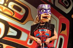 A contemporary performance with The Spirit of the Potlatch Mask, carved by dance leader David Boxley of the Tsimshian Nation of the northwest coast