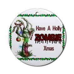 have a holly zombie christmas