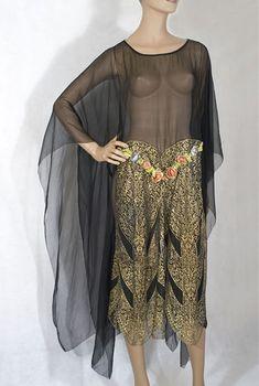774384b3083d 1920s dress via Vintage Textile 1920s Evening Dress