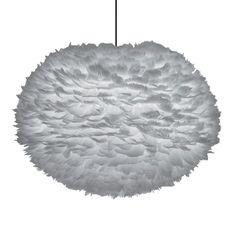 Eos fjærlampe pendel L, grå i gruppen Belysning / Lamper / Taklamper hos ROOM21.no (1025709)