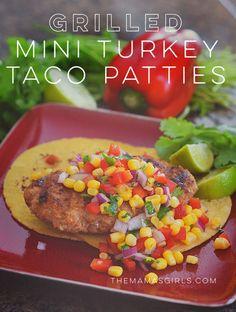 All Whites Grilled Mini Turkey Taco Patties - so good