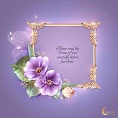 Flower Frame, Flower Art, Invitation Cards, Invitations, Photoshop 7, Autumn Rose, Lily Bloom, Stationary Design, Lilac Color