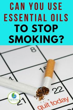 Learn how to stop smoking with essential oils! #quitsmoking #stopsmoking #essentialoils #stopsmokingessentialoils
