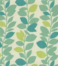 Home Decor Print Fabric- Waverly Leaf Garland Spa & home decor print fabric at Joann.com  $49.99/yd