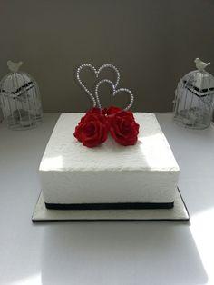 Single Tier Wedding Cake Single Tier Cakes Pinterest Diamond
