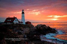 Sunrise Portland Head Light, Lighthouse