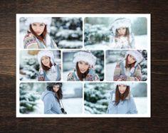 4 diferentes corazón foto Collage plantilla PSD. Regalo de San