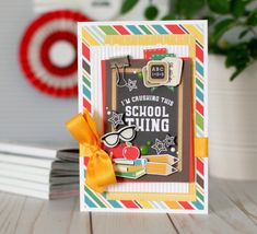 """""""Back to School"""" student card by Anya Lunchenko for Handmade Teachers Day Cards, Teacher Cards, Teacher Gifts, Fall Projects, School Projects, Projects To Try, Echo Park Paper, Teachers' Day, Scrapbooking Layouts"""