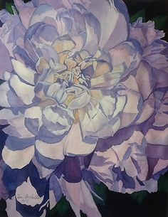 Peony Light by Janet Archuleta Watercolor ~ 20 x 16 Framed