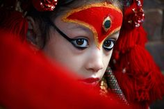 Living Goddess Kumari.  One of her incarnations