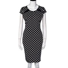 DaySeventh Women Bandage Bodycon Short Sleeve Office Pencil Mini Business Dress at Amazon Women's Clothing store: