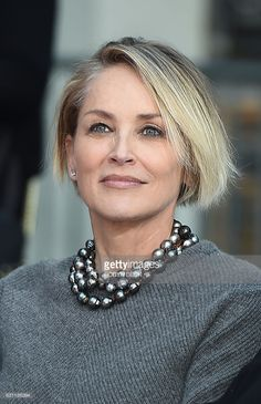Actress Sharon Stone attends a ceremony at the TCL Chinese Theater in Hollywood, California, on January 6, 2017. / AFP / Robyn Beck