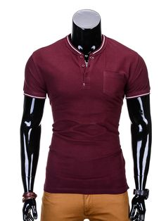 T-SHIRT S667 - BORDOWY - Sklep Ombre Athletic, Zip, T Shirt, Jackets, Fashion, Supreme T Shirt, Moda, Tee Shirt, Athlete